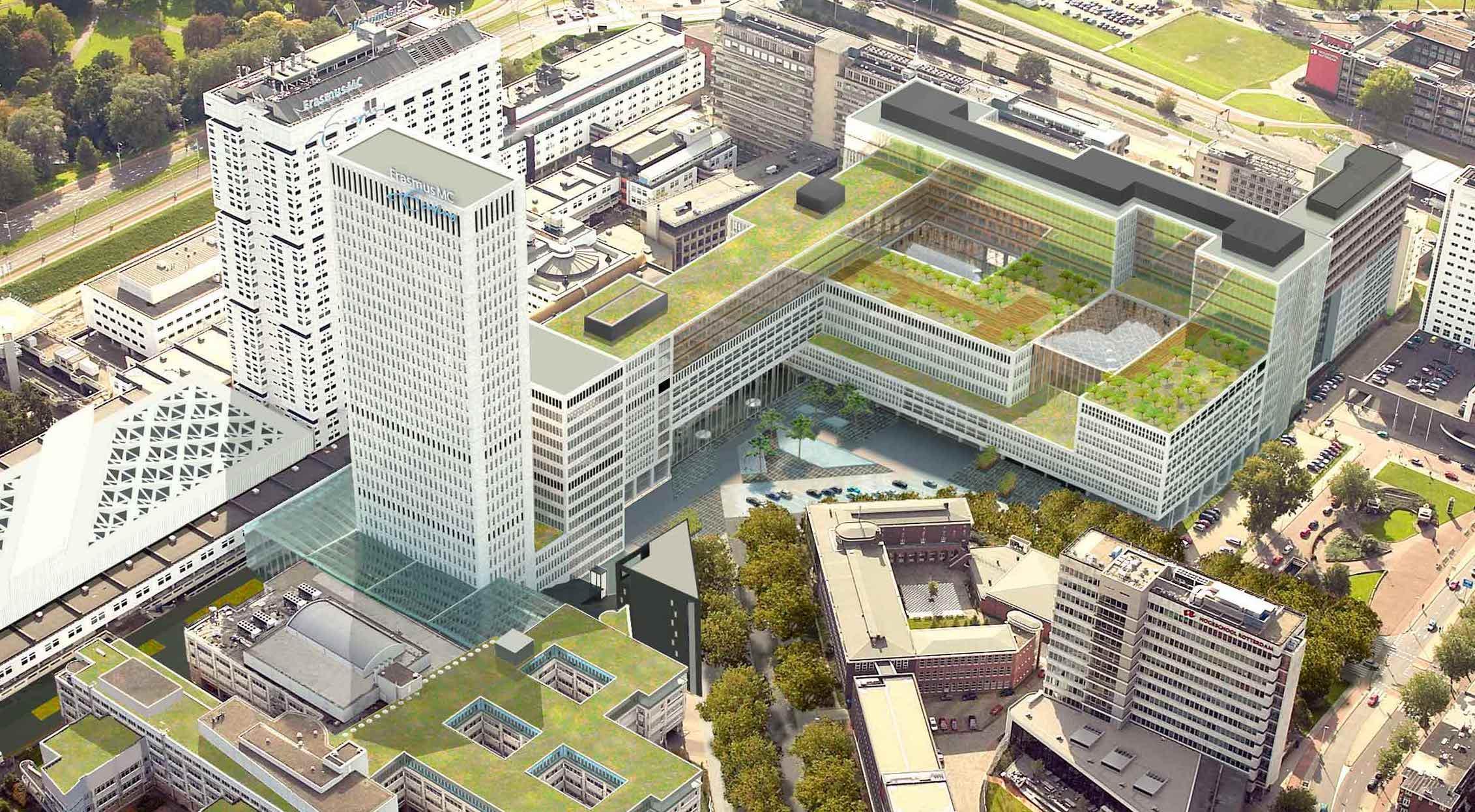Groen dak voor Rotterdams ziekenhuis