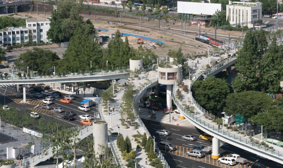 Oude snelweg wordt groene wandelweg in Seoul