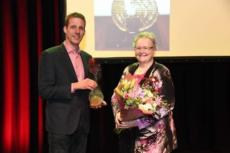 Niels Kreuk met de Martien Zandwijk Prijs