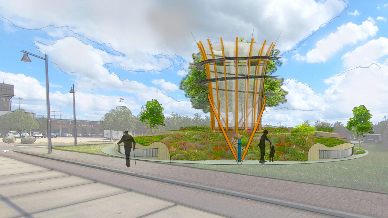 Urban Oases: een groene stadslong die de stad schoner maakt
